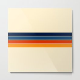 Mitsunari - Classic Retro Stripes Metal Print