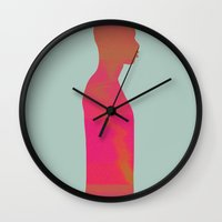 men Wall Clocks featuring Men by Leandro Pita