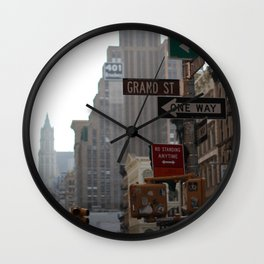 Grand Street/One Way Wall Clock