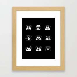 Fifties' Smartphones Black Framed Art Print