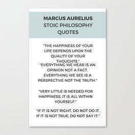STOIC PHILOSOPHY WISDOM QUOTES Canvas Print