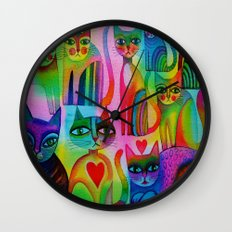 Pussies Galore  Wall Clock