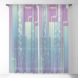 Art Deco Style Sheer Curtain