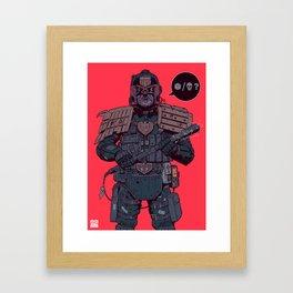 Your choice creep! Framed Art Print