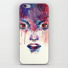 Um rosto aquarelável iPhone & iPod Skin