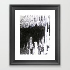 Cave Drawing IV Framed Art Print