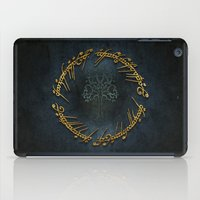 lord of the rings iPad Cases featuring The Lord Of The Rings Logo by Janismarika