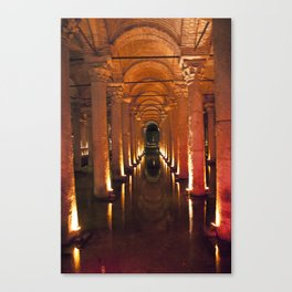 Pillars Of Light! Canvas Print