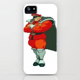 M. Bison (AKA Vega) Pixel Art iPhone Case