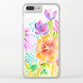 Summer Floral Clear iPhone Case