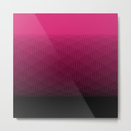Magenta to Black Ombre Signal Metal Print