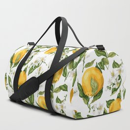 Citrus OrangeTree Branches with Flowers and Fruits Duffle Bag