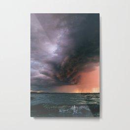 incoming storm Metal Print
