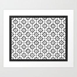Black&White Ilusionist Pattern Art Print