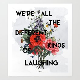Laughing Art Print