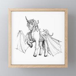 Dragonicorn Framed Mini Art Print