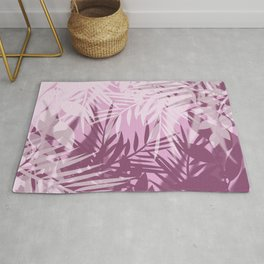 Pink tropical background Rug
