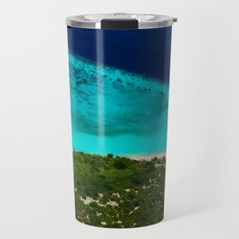 Deserted Coral Island. Maldives Travel Mug