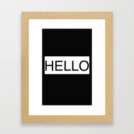 HELLO 2 Framed Art Print