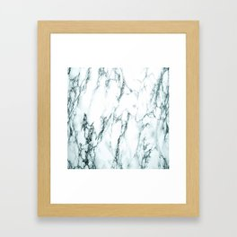 Green Marble Look Framed Art Print