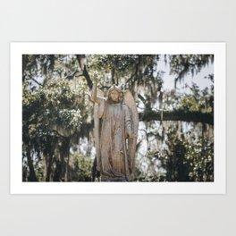Bonaventure Cemetery Angel Art Print