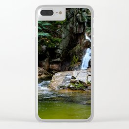 Lower Sabbaday Falls with Pool Clear iPhone Case