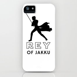 Rey of Jakku (Black) iPhone Case