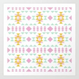 candy colors geometric design Art Print