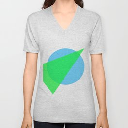 Compass: Blue and Green Unisex V-Neck