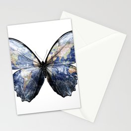 Blue Morpho Earth Butterfly Stationery Cards