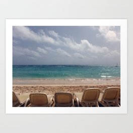 View from the Beach Art Print