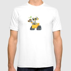 walle with plant White Mens Fitted Tee MEDIUM