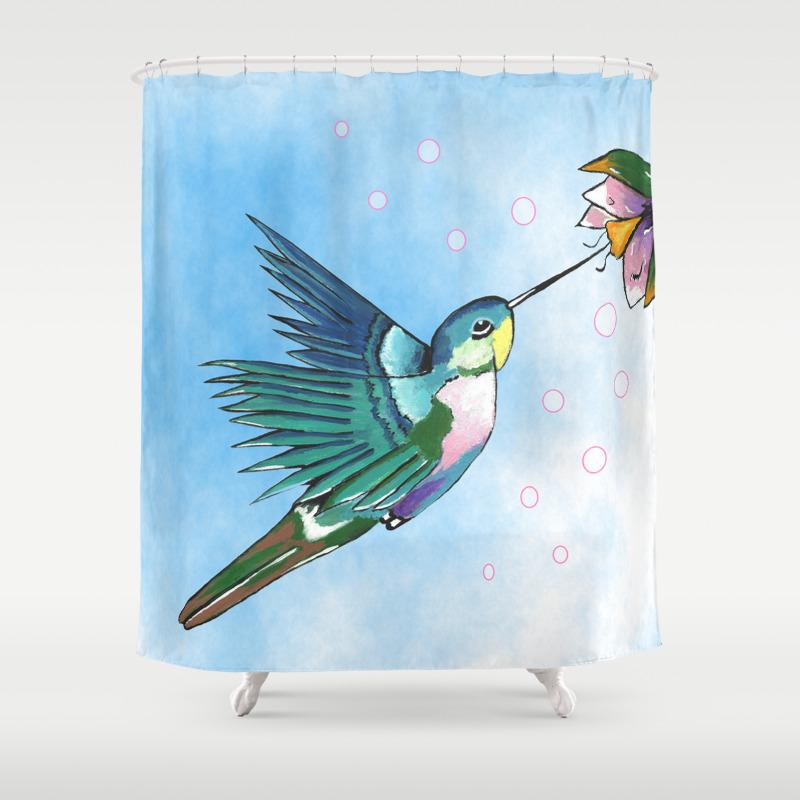 Mallard duck shower curtain - Mallard Duck Shower Curtain 57