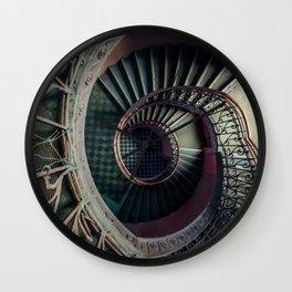 Art Deco spiral staircse Wall Clock