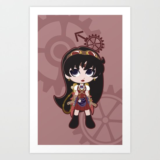 Steampunk Sailor Mars - Sailor Moon Art Print