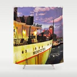 Sunset Freighter Shower Curtain