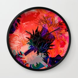 Floral constellation Wall Clock