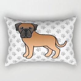 Apricot English Mastiff Dog Cute Cartoon Illustration Rectangular Pillow
