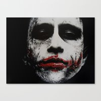 joker Canvas Prints featuring Joker by waynemaguire777