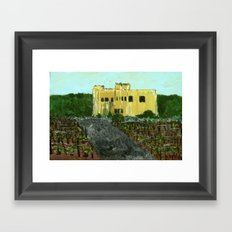 Sand Castle Winery Framed Art Print