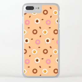 Sweets,cakes and coffee pattern Clear iPhone Case