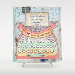 Typewriter #7 Shower Curtain