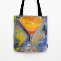 martini Tote Bags featuring Mango Martini by Michael Creese