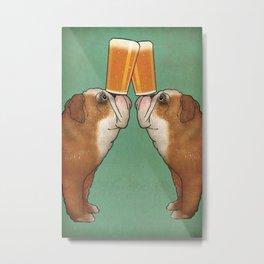 Bulldog Brewing Beer Fowler Metal Print