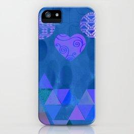 Christmas Blues iPhone Case