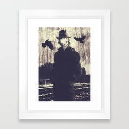 Surreal Double Exposure Print Framed Art Print