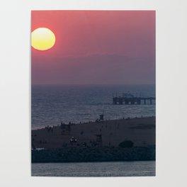 Sunset Over the Newport Peninsula Poster
