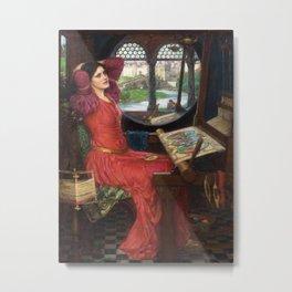 "John William Waterhouse - ""I am half sick of shadows"" said the Lady of Shalott Metal Print"