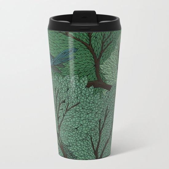 Blue Birds Metal Travel Mug
