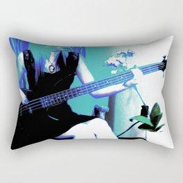 Rock Cameo Bass Blues, Guitar Rectangular Pillow